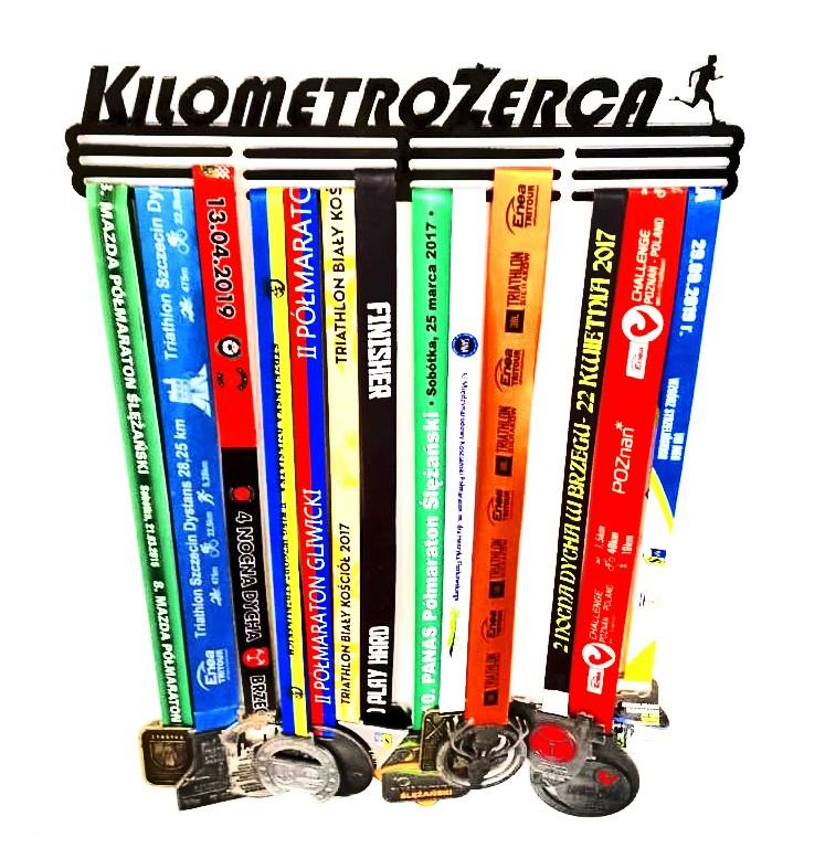 Wieszak na medale Kilometrożerca bieganie