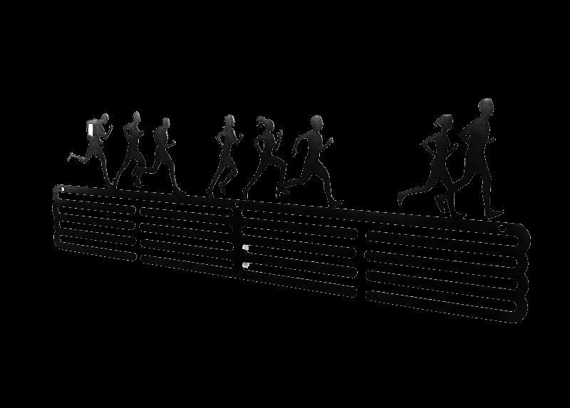 Wieszak na medale dla biegaczy czarny