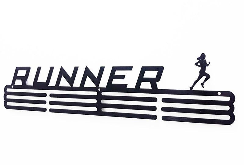 Wieszak na medale Runner biegnąca kobieta