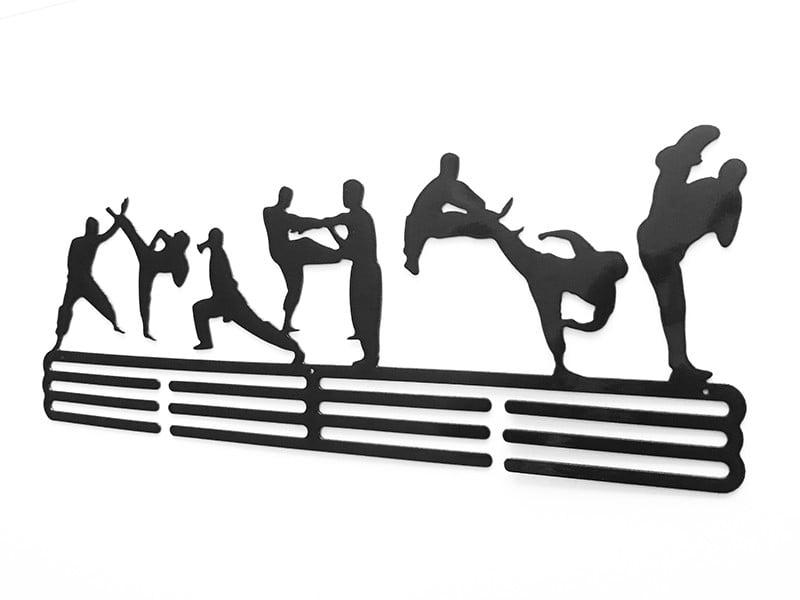 Wieszak na medale karate postacie