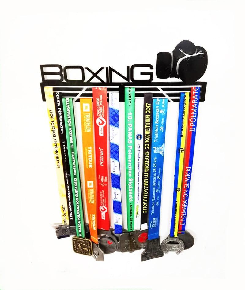 wieszak na medale boks