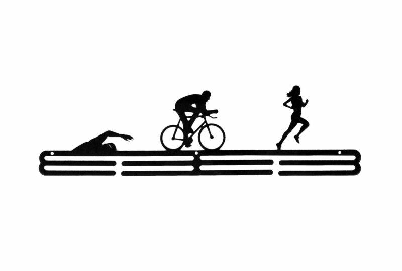 Wieszak na medale swim bike run TRIATHLON kobieta