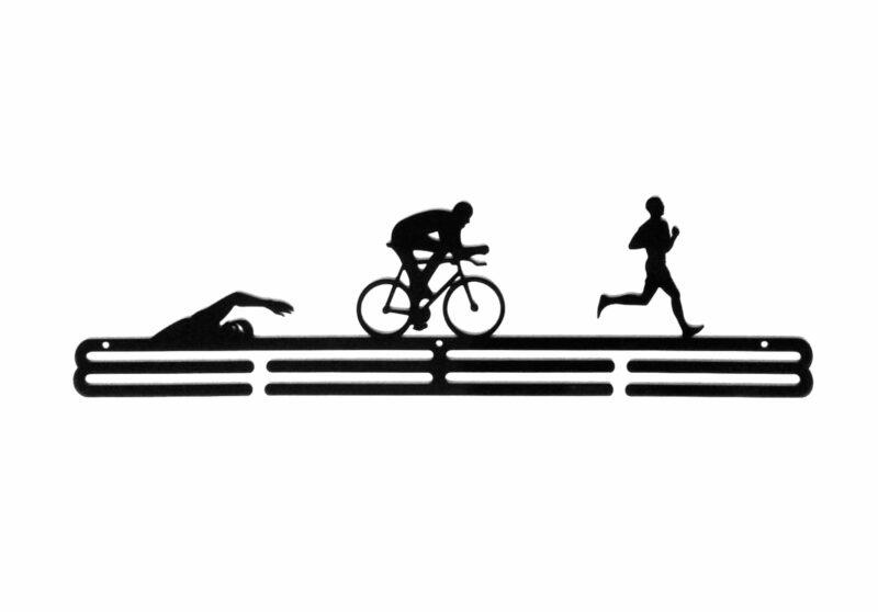 Wieszak na medale swim bike run TRIATHLON mężczyzna