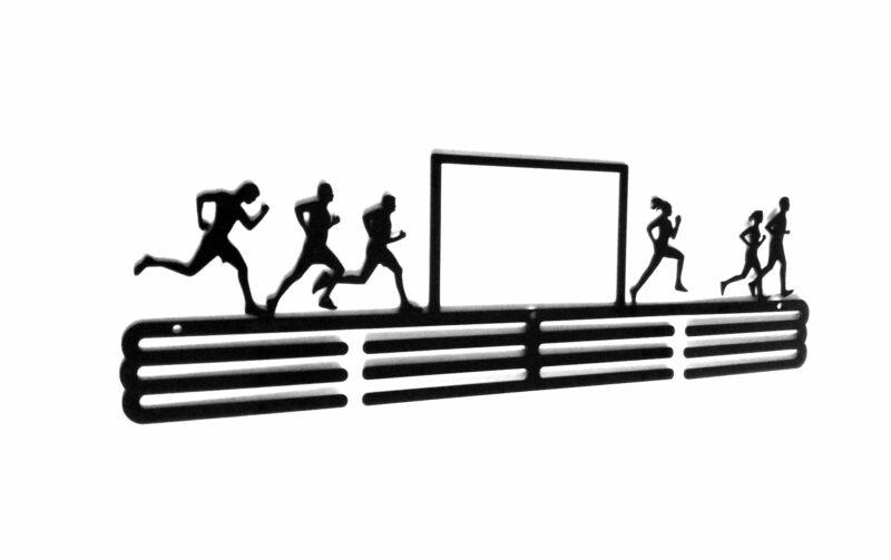wieszak na medale z ramką na zdjęcia bieganie