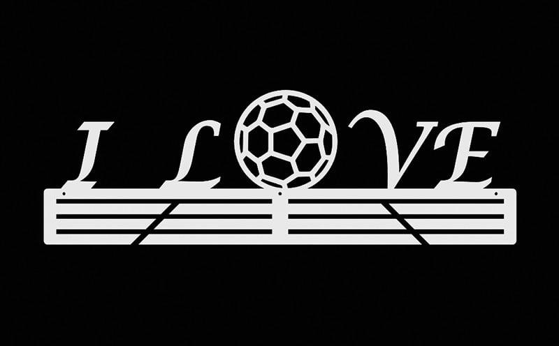 Wieszak na medale I Love Handball BIAŁY