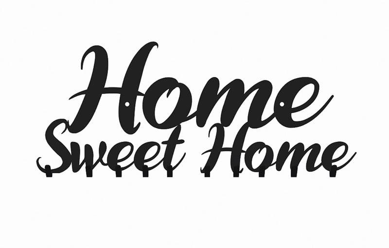 Wieszak Home Sweet do przedpokoju na ubrania