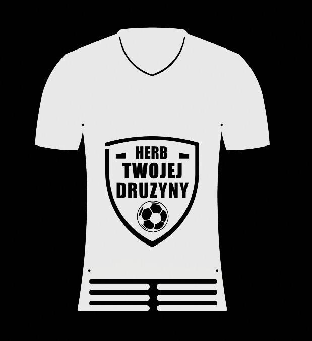 Wieszak na Medale Herb drużyny koszulka piłkarska biały