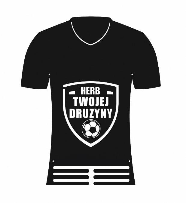 Wieszak na Medale Herb drużyny koszulka piłkarska