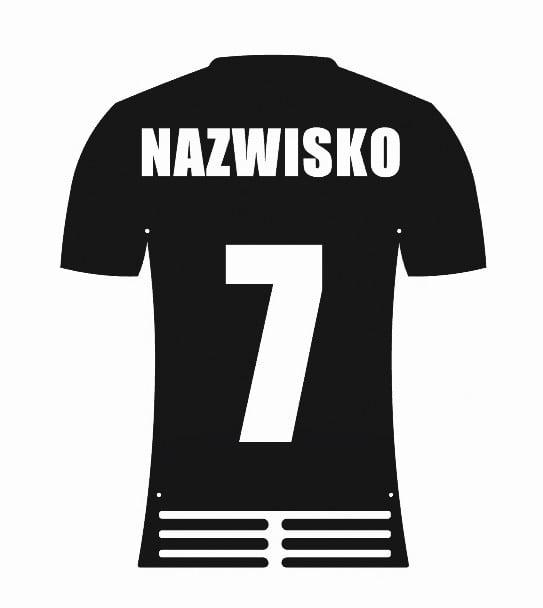 Wieszak na Medale Koszulka Piłkarska Piłka Nożna czarny