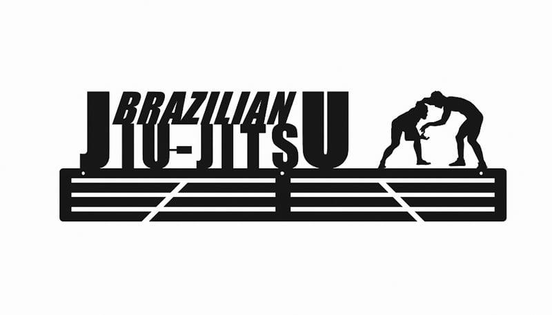 Wieszak na medale Brazylijskie Jiu jitsumetalowy