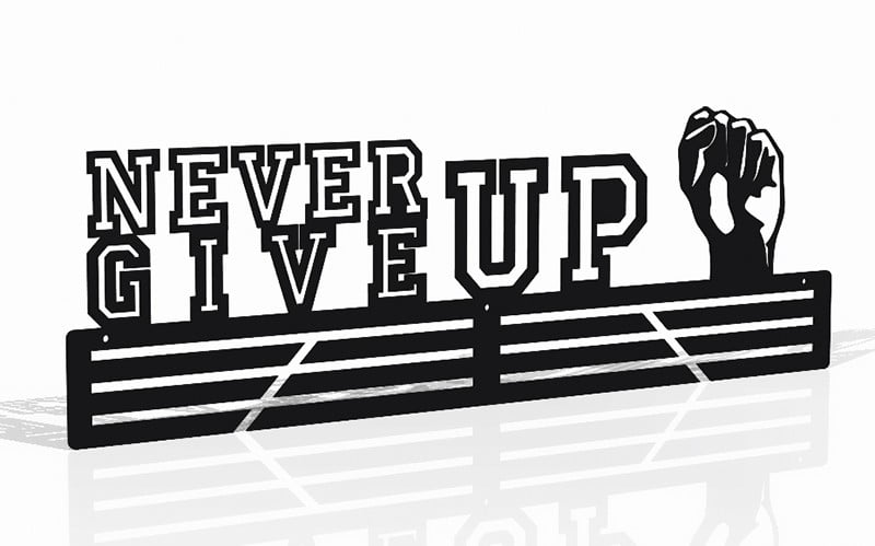 Wieszak na Medale Never Give Up