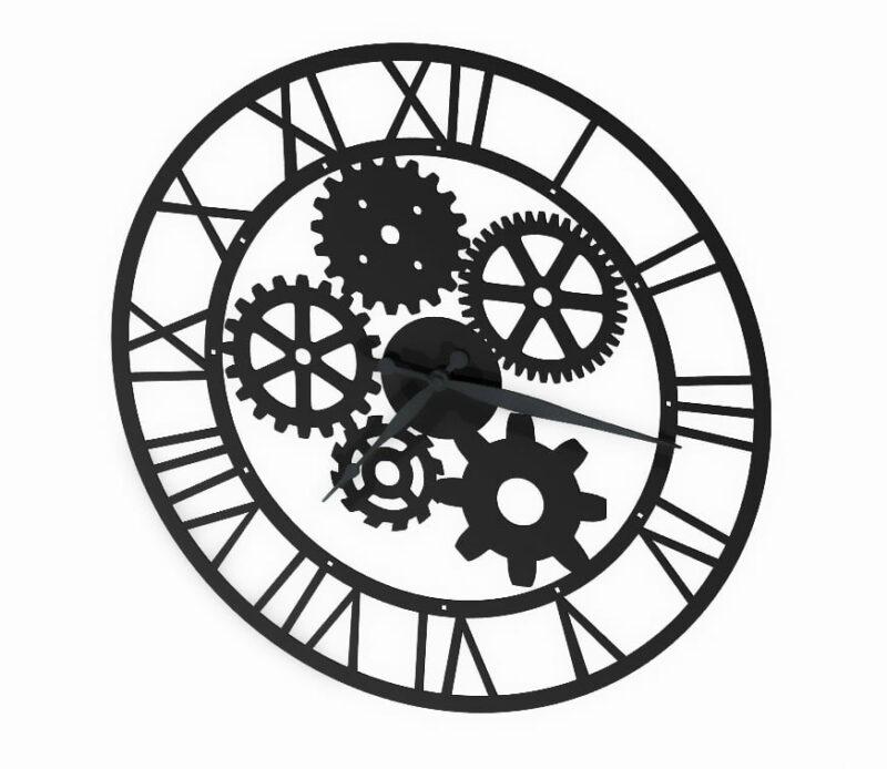 Zegar zębatki nowoczesny metalowy