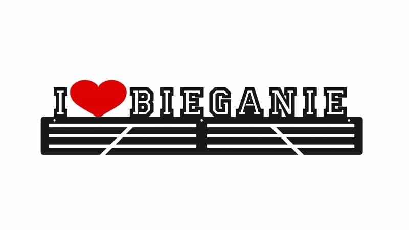 Wieszak dla biegacza na prezent I Love Bieganie