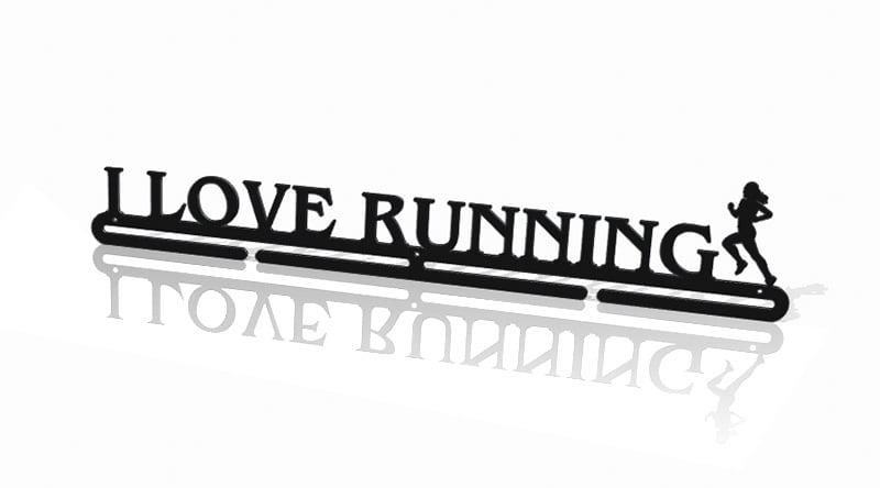 Zawieszka do medali I Love Running dziewczyna