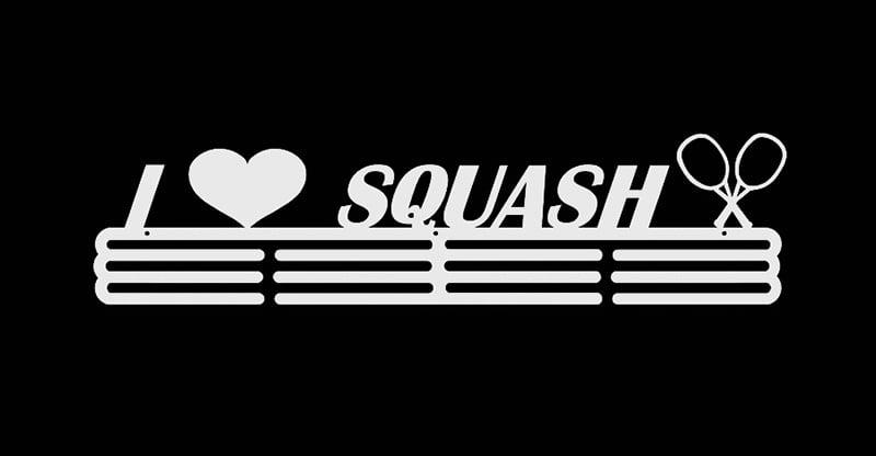 Wieszak na Medal I Love Squash biały