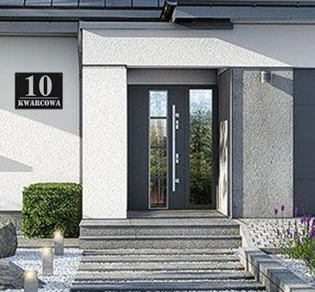 Numer na dom nowoczesny metalowy2