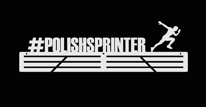 wieszak na medale #polishsprinter biały