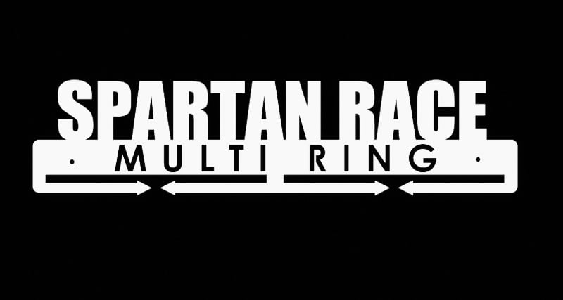 Wieszak Na Medale Multi Ring Spartan Race biały 40 cm