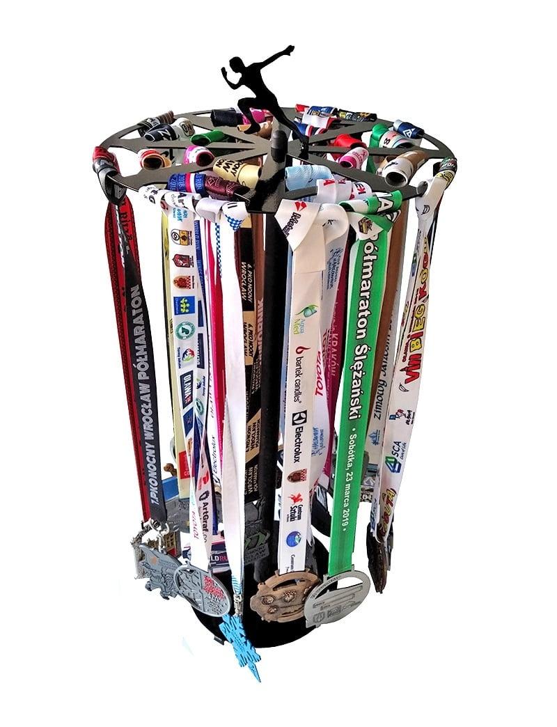 Stojak na medale dla biegacza