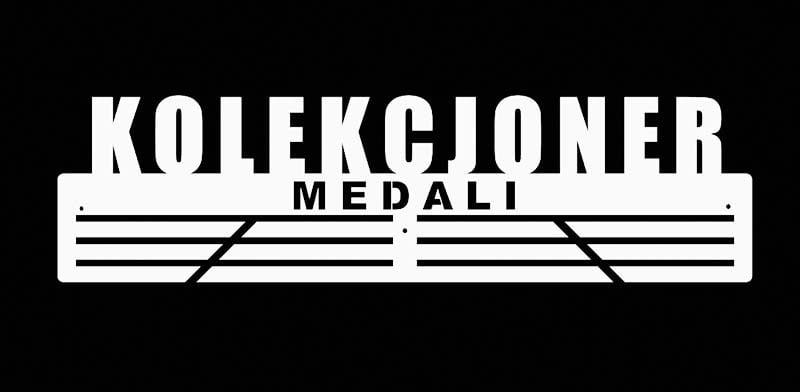biały wieszak na medale do kolekcji medali
