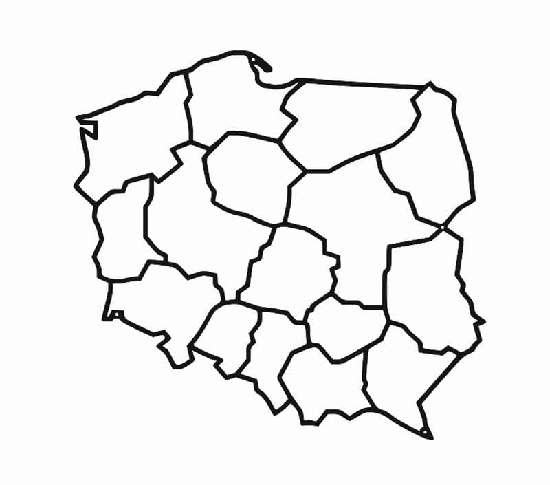 Dekoracja ścienna mapa Polski geometryczna