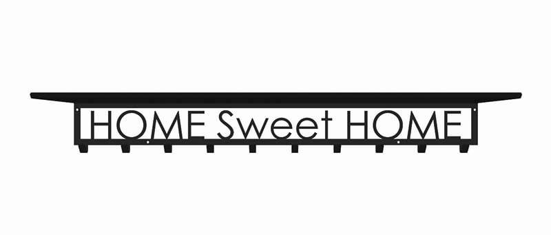 home sweet home wieszak z półką