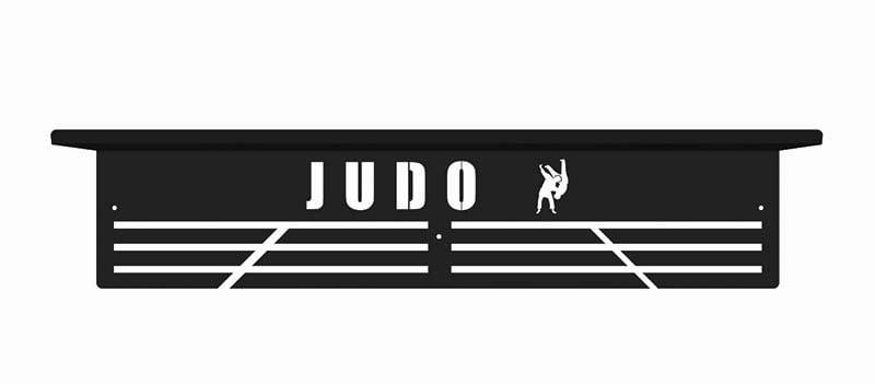 Judo wieszak na medale z półką