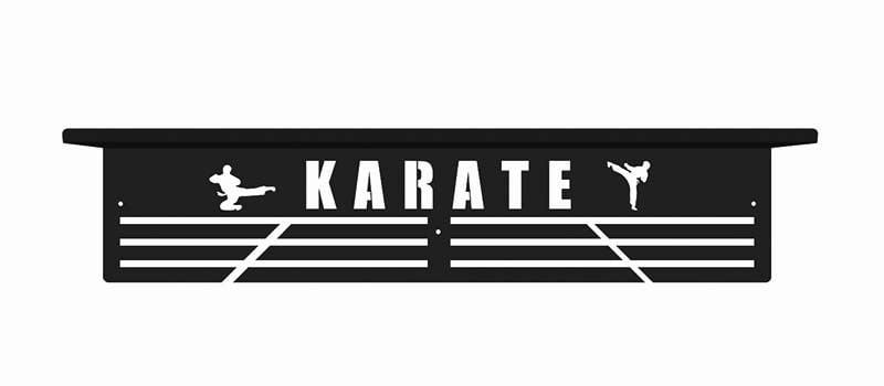 Karate wieszak na medale z półką