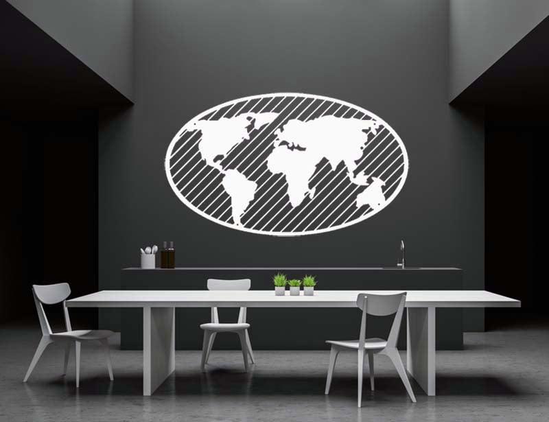 Mapa świata metalowa 3d globus