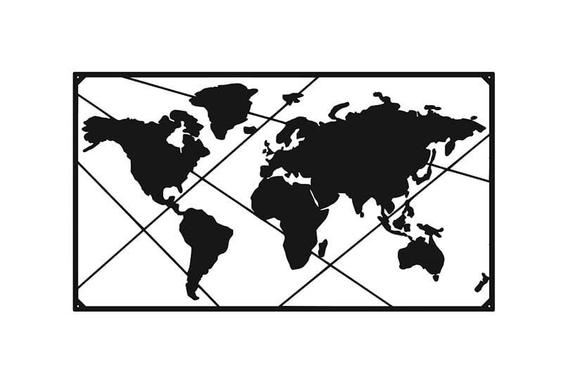 Mapa świata metalowa ścienna dekoracja