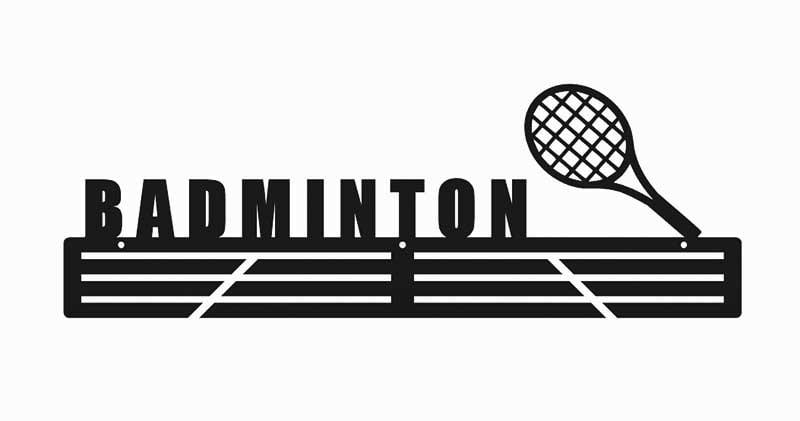 Medalówka wieszak metalowy badminton