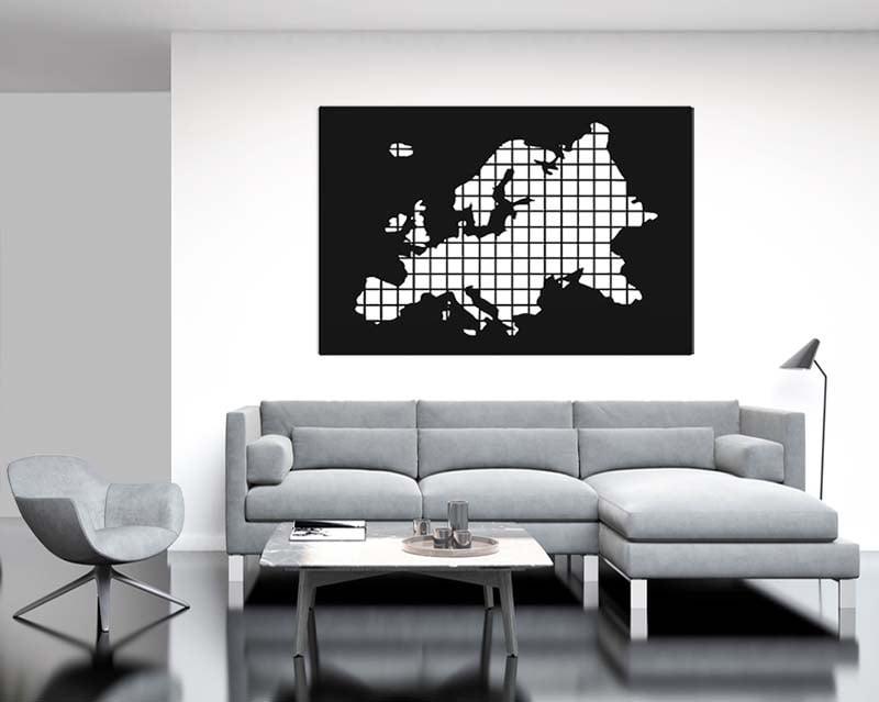 Metalowa dekoracja mapa Europy