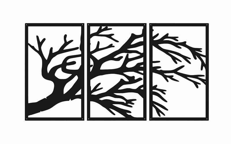 Metalowa ozdoba ścienna gałąź drzewa