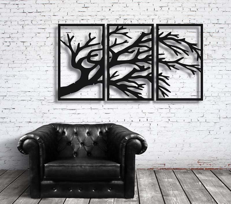 Metalowe drzewo dekoracja ścienna