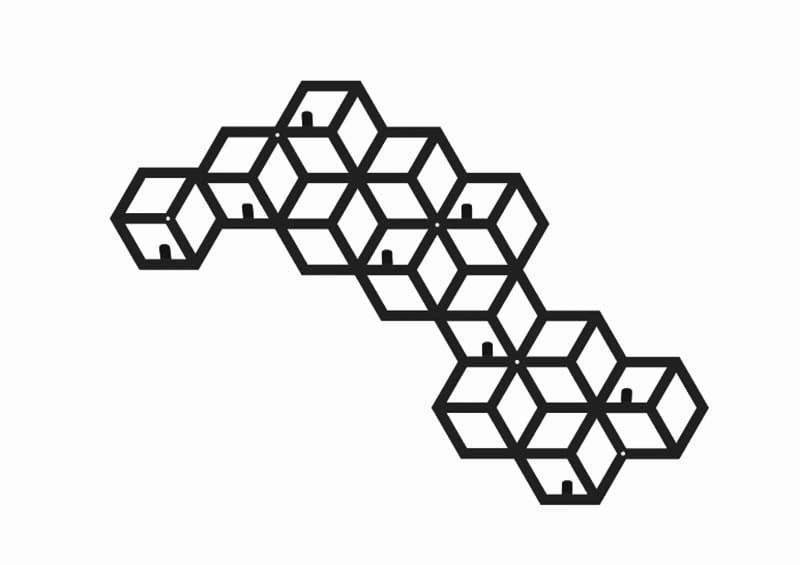 Metalowy wieszak geometryczny skandynawski poziom