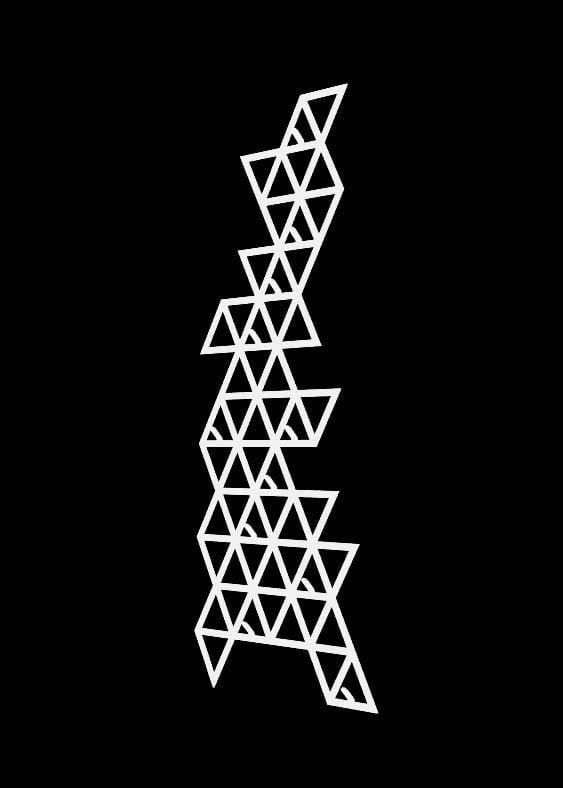 Metalowy wieszak na ścianę geometryczny