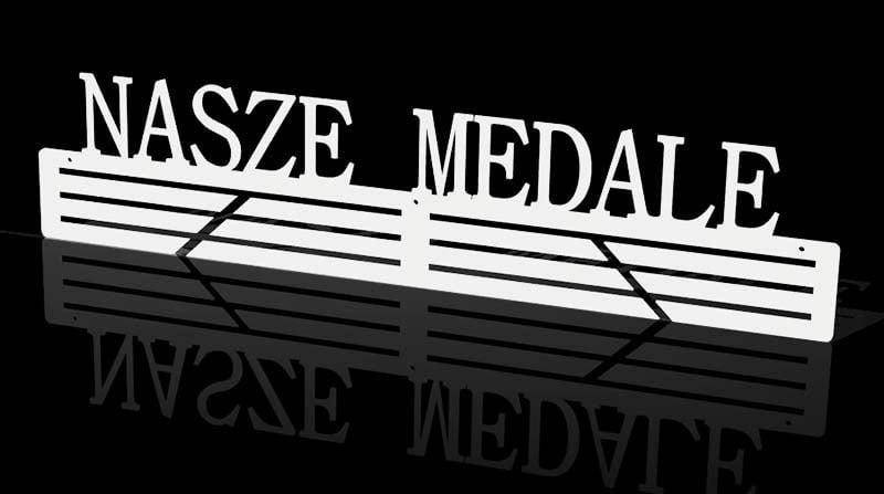 nasze medale wieszak na medale biały