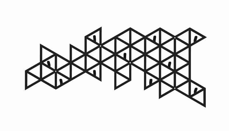 Ozdobny wieszak do przedpokoju trójkąty