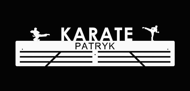 personalizowana medalówka dla karateków biała
