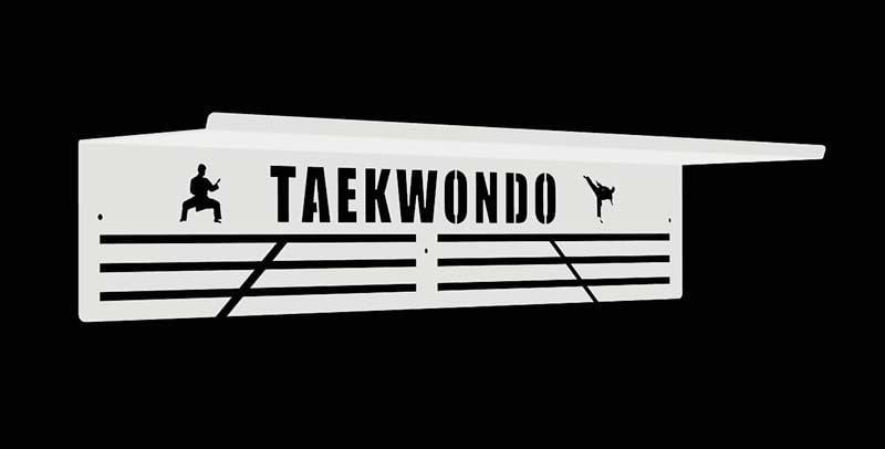 Półka na medale i puchary biała taekwondo