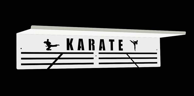 Półka na puchary medale karate