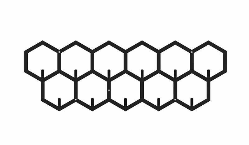 Wieszak 3D plastry miodu metalowy