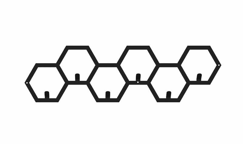 Wieszak hexagon nowoczesny metalowy