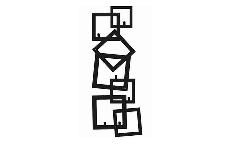 Wieszak metalowy pionowy kwadraty