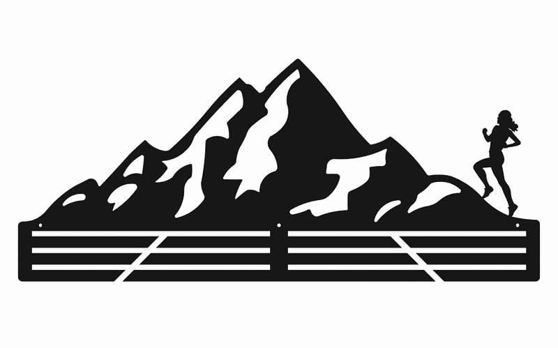 wieszak na medale bieganie gory kobieta