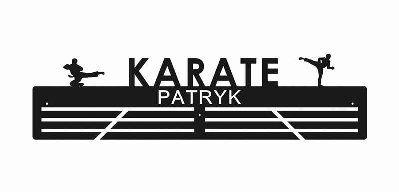 Wieszak na medale karate imienny