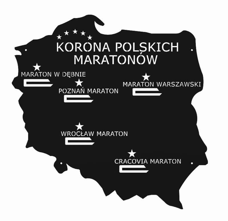 wieszak na medale korona polskich maratonów