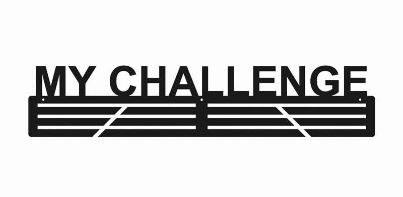 Wieszak na medale metalowy my challenge