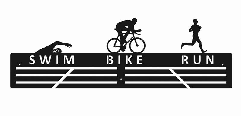 Wieszak na medale swim bike run