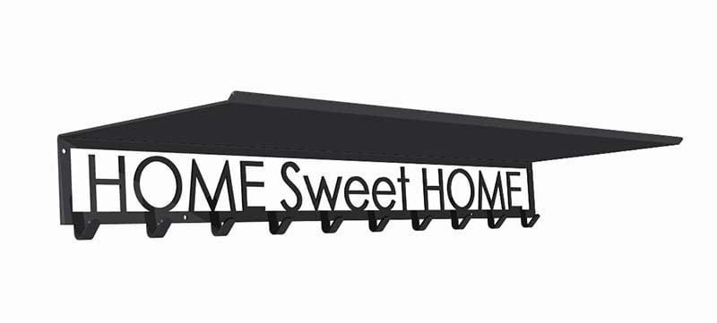 Wieszak z półką home sweet home